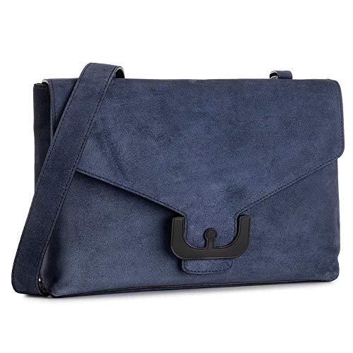 Coccinelle Tasche AMBRINE CROSS SUEDE Damen Leder+veloursleder Blau - E1EJ6150201B12