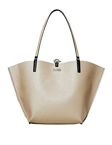 Guess ALBY VG745523 Tasche Shopper REVERSIBLE Tasche + Clutch Bag Small Gold