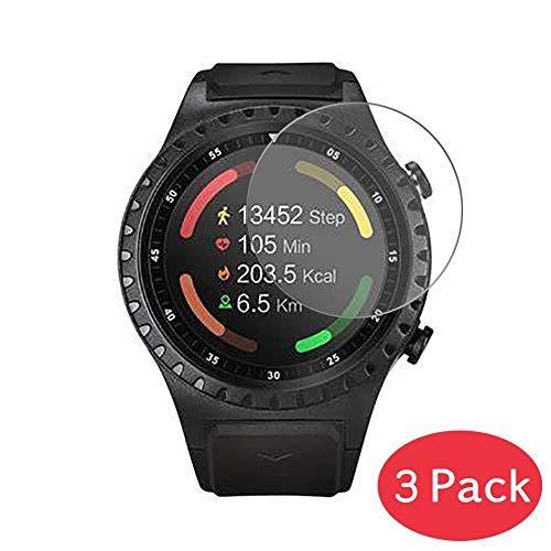Vaxson 3 Stück 9H Panzerglasfolie kompatibel mit Acme SW302 Panzerglas Schutzfolie Displayschutzfolie Bildschirmschutz Intelligente Uhr Armband Smartwatch