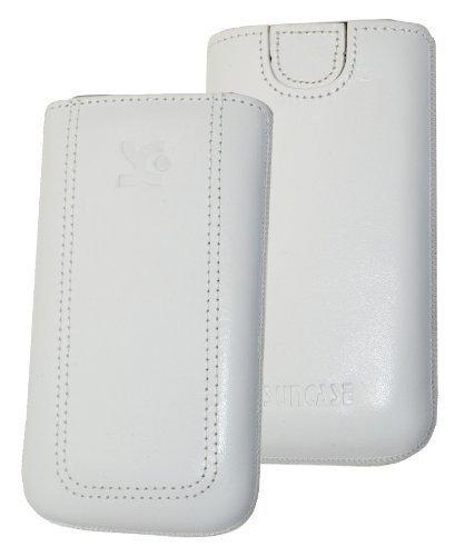 Suncase - Funda de cuero para Sony Ericsson Xperia Arc, color blanco