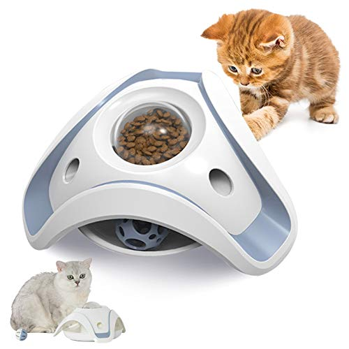 pet jouet Cat IQ Treat Dispensing Toys, Cat Interactive Puzzle Slow Feeding Toys, Food Dispenser Toy, Kitten Fun Exercise Toys, Relieve Cat's Anxiety & Maintain Healthy Habits, Easy to Clean.