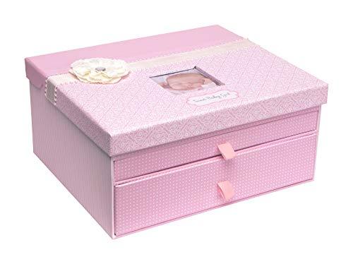 C.R. Gibson Pink Baby Girl Large Keepsake Box, 12.5'' W x 10.25'' H