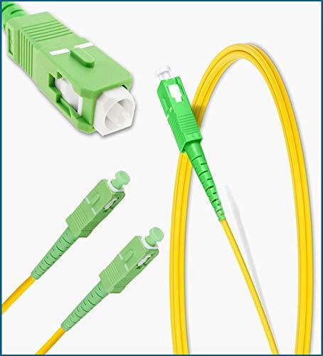 REGIONTEL - Latiguillo de Cable de Fibra óptica monomodo (SM) Simplex SC/APC a SC/APC - (Compatible con Router FTTH) - (Ø :1,8mm.) (18 Metros)