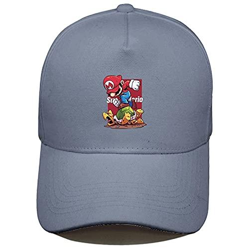 Sombrero de Super Mary Sonic Super Mary Mario Sombrero de Hip Hop para niños Sombrero de ala Plana Sombrero de Moda Sombrero de Hip-Hop Gorra de béisbol Fuera de la Calle Sombrero de Marea