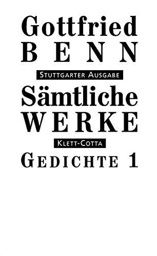 Sämtliche Werke - Stuttgarter Ausgabe: Sämtliche Werke Bd. 1: Gedichte I