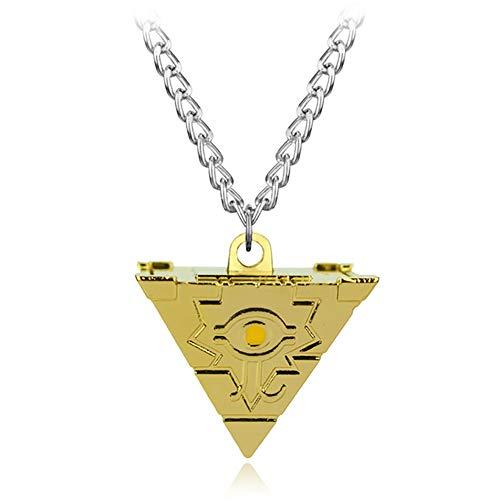 C- Halskette-Schmuck Halskette Spiel Millenium Puzzle Anhänger Pyramide Ägyptisches Auge des Horus Halskette Für Männer,Gold