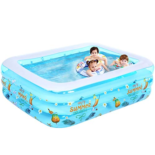 LMJ 3.5m Kid Pools Piscinas inflables Patrón de espesas Espesor SRECREATAL Pool para al Aire Libre Familia Backyard Pools Nflatable (Color : A)