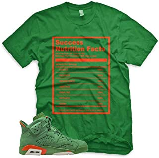 Green Success Facts T Shirt for Jordan 6 VI Gatorade Suede PRM Be Like Mike