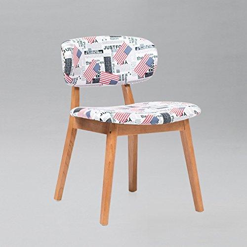 CJH Nordic minimalistische Graffiti doek rugleuning stoel massief hout stoel grote grootte koffie winkel bureaustoel