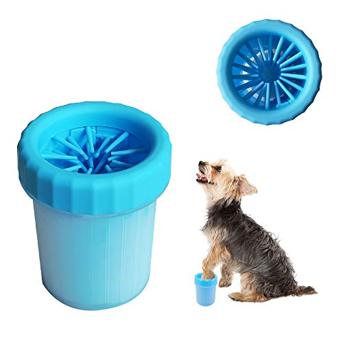 LoboJack Dog Paw Cleaner, Portable Pet Cleaning 360º Silicone Brush Cup (for Small Breed Cats and...