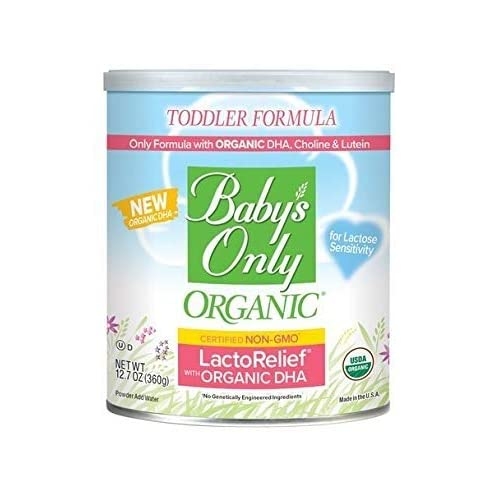Baby's Only Organic LactoRelief with DHA & ARA Toddler Formula, 12.7 Oz (Pack of 1) | Non GMO | USDA Organic | Clean Label Project Verified | Lactose Sensitivity