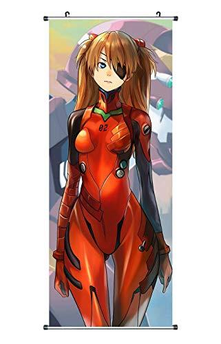 CoolChange Neon Genesis Evangelion Rollbild   Kakemono aus Stoff   Poster 100x40cm   Motiv: Asuka Langley Soryu