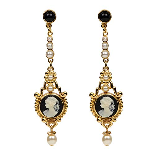 Ben-Amun Jewelry Cameo Collection Earrings Fashion Jewelry for Woman, Gold