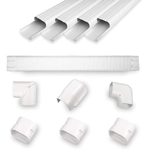 "MOOITEK 4"" 14Ft PVC Decorative Line Cover Kit for Ductless Mini Split Air Conditioners"
