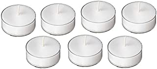D'Light Online Clear Cupped 5 Hours Unscented White Tealight Candles in Clear Plastic Cups - Set of 125