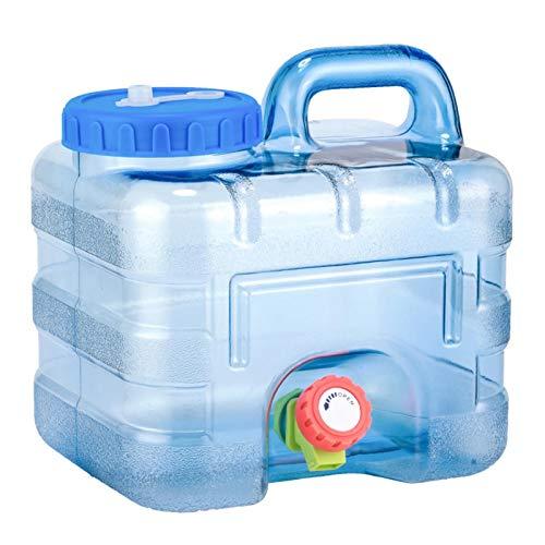Sroomcla L Bidón Plástico con Grifo Contenedor De Agua Portátil Tanque de Almacenamiento de Agua del Multifuncional al Aire Libre Contenedor de Agua Portátil BPA Gratis Brilliant