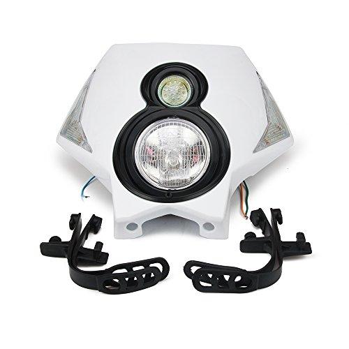 S2 12 V 35 W Universel Moto Phare Double Lumières Tête Lampe Led Lumières Pour Dirt Pit Bike ATV Blanc