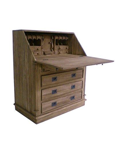 Teak-town TEAK Sekretär SE41-2 Teakholz antik massiv 110x90x53 Schreibtisch Möbel