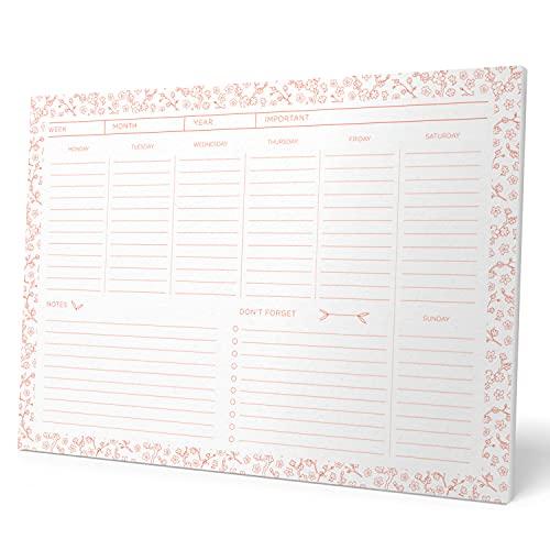 Grupo Erik BPSA40028 - Planning da Tavolo Miss Haiku, con planner settimanale e 54 fogli a strappo, perfetto come agenda appuntamenti, bianco