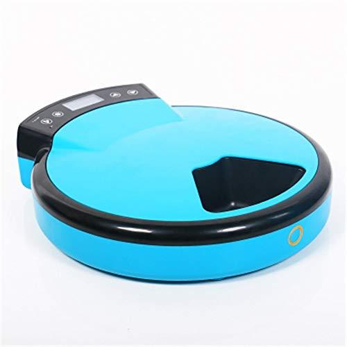 Blauwe kunststof machine voor katten en honden, automatisch, intelligente voeding, voor kattenvoer