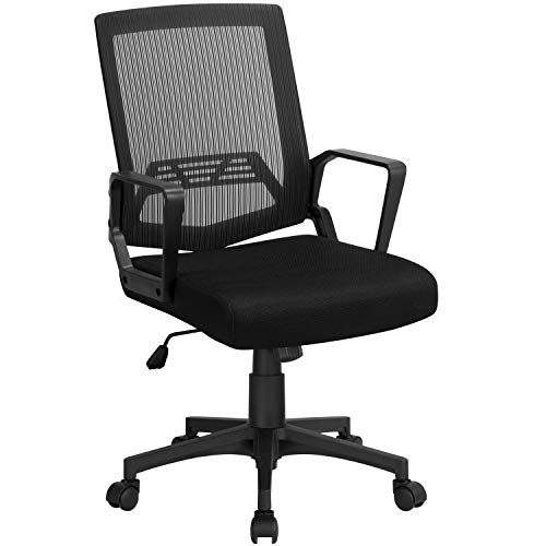 Topeakmart Ergonomic Mesh Office Chair, Executive Rolling Swivel Chair, Computer Chair with Lumbar Support Desk Task Chair for Women, Men(Black)