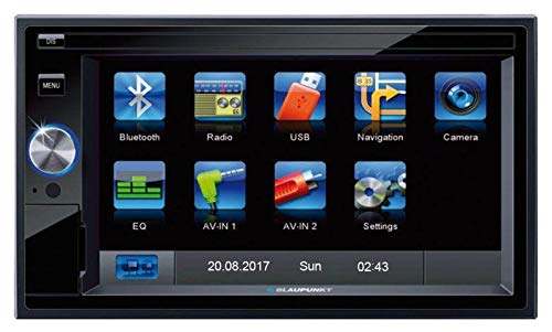 Blaupunkt Santa Cruz 370 EU Prof. - 2-DIN Navigation mit Touchscreen / Bluetooth / TMC / USB / 3D