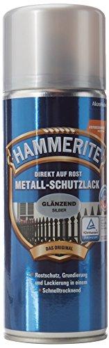 AKZO NOBEL (DIY HAMMERITE) Metall-Schutzlack glänzend Silber 0,400 L, 5087596 Farbe: Silber