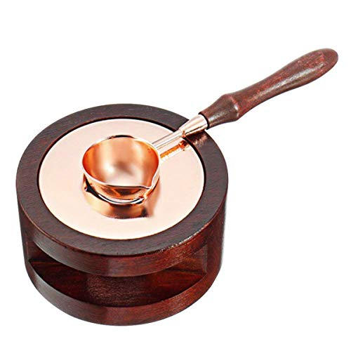 Calentador de Sello de Cera, Vintage Horno de Sello con 1 Cuchara...