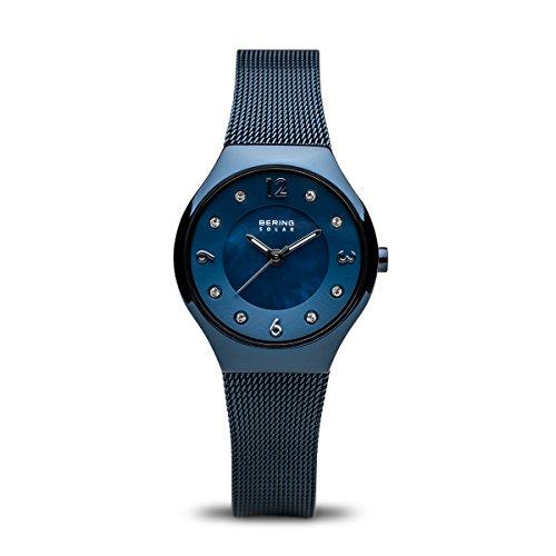 BERING Damen-Armbanduhr Analog Solar Edelstahl 14427-393