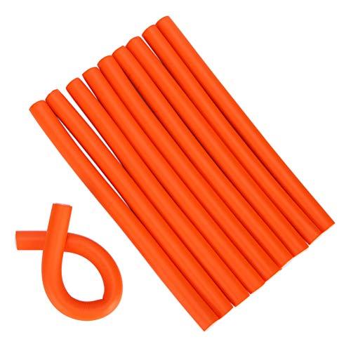 BASOYO Juego de Varillas para rizadores de Pelo de 10 Piezas, Rodillos de Pelo Flexibles y Ligeros de Espuma Suave para estilizar el Cabello para peluquería o Bricolaje