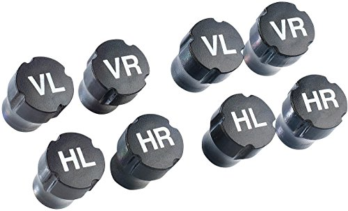 Lescars Reifenmarkierer: Radmerker-Set, Ventilkappen, 2X 4 Stück (Autoventilkappen)