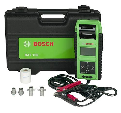 Bosch BAT155 Batterietester mit integriertem Drucker, für 6 V und 12 V Batterien, 12 V und 24 V Ladesysteme