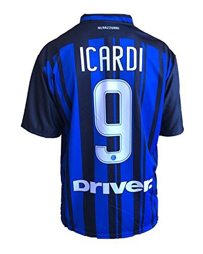 F.C. Internationale Fußballtrikot Inter Icardi Replica 2017-2018 für Kinder (Größen 2 4 6 8 10 12) Erwachsene (S M L XL) (10 Jahre)