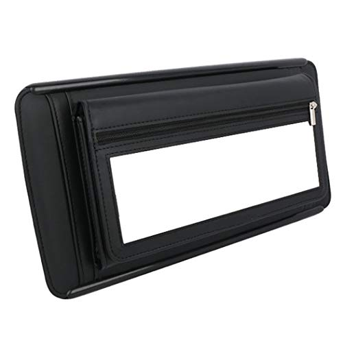 COAFIT Car Visor Tissue Holder Hanging Tissue Box Paper Towel Storage Box (Black)