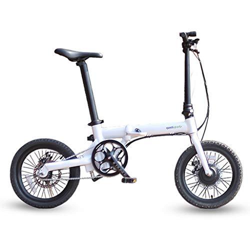 SNDDC Elektrofahrrad DREI Fahrmodi Ebike 250W Motor 25Km / H 25-40KM Reichweite E Fahrrad 16 Zoll Reifen Elektrofahrrad,Weiß,16inch