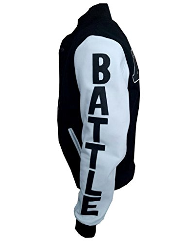 Michael B. Jordan Kobe Destroyer XXIV Battle White and Black Jacket (Black, XL)