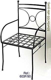 Amazon.es: silla de forja jardin
