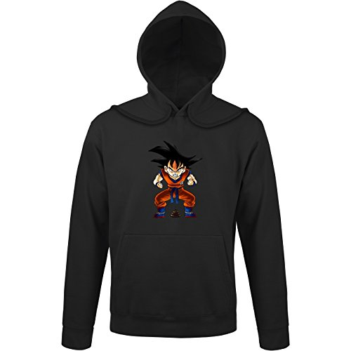 Okiwoki Sweat à Capuche Noir Dragon Ball Z - DBZ parodique Sangoku : Super Caca - Vol.1 (Parodie Dragon Ball Z - DBZ)