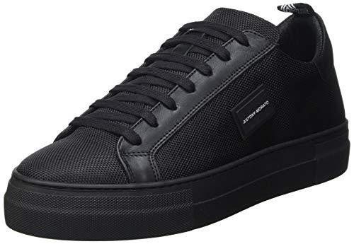 Antony Morato Sneaker DUGGER Metal IN Nylon E Pelle, Oxford Plano Hombre, Negro, 41 EU