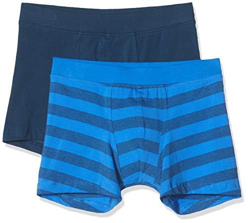 Schiesser Jungen Multipack 2Pack Boxershorts, Multicolore (Blau Sortiert 1 901), 140 (2er Pack)