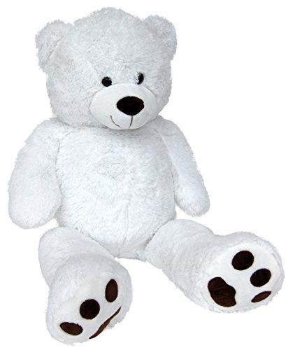 Wagner 9060 - Riesen XXL Teddybär 100 cm groß in Weiss - Plüschbär Kuschelbär Teddy weißer Bär