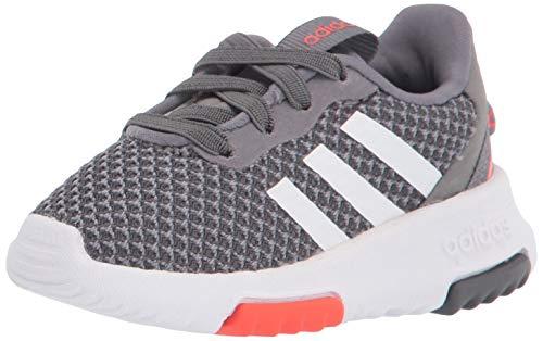 adidas Racer TR 2.0 Running Shoe, Grey/White/Grey, 3 US Unisex Little Kid