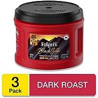 3-Pack Folgers Black Silk Dark Roast Ground Coffee, 20.6 Ounces