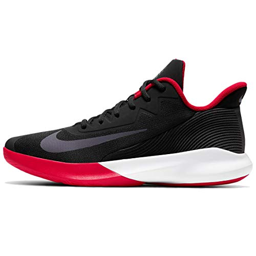Nike Precision 4, Zapatillas de bsquetbol Hombre, Black Dark Grey University Red White, 39 EU