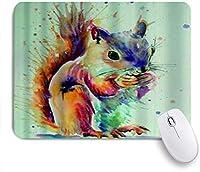 KAPANOUマウスパッド リスかわいい動物スプラッシュ水彩 ゲーミング オフィス最適 高級感 おしゃれ 防水 耐久性が良い 滑り止めゴム底 ゲーミングなど適用 マウス 用ノートブックコンピュータマウスマット