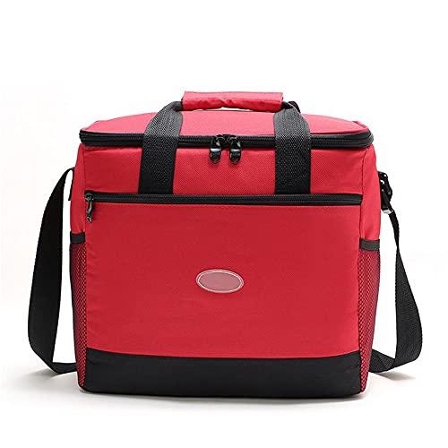Nenka Bolsa isotérmica para el almuerzo, bolsa para el almuerzo, bolsa térmica para la oficina, escuela, picnic, 16 l (rojo)