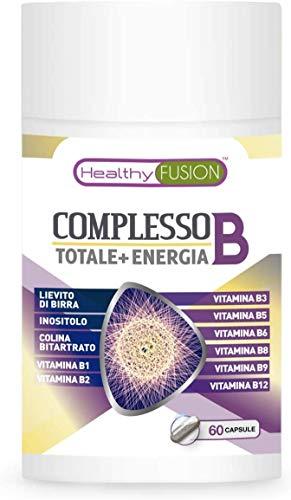 Healthy Fusion Complesso Di Vitamine B Con Vitamine B1, B2, B3, B5, B6, B9, B12 | Complesso Vitaminico B Per Rafforzare Il Sistema Immunitario - 85 g