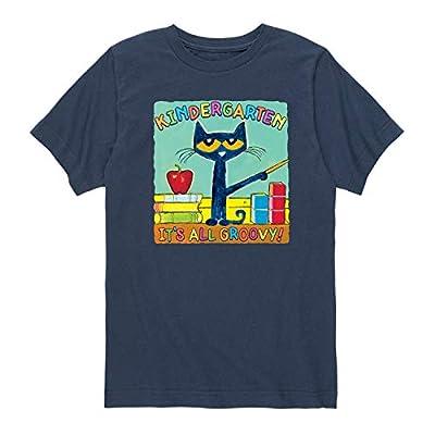 Pete The Cat Kindergarten It's All Groovy - Toddler Short Sleeve Tee Navy