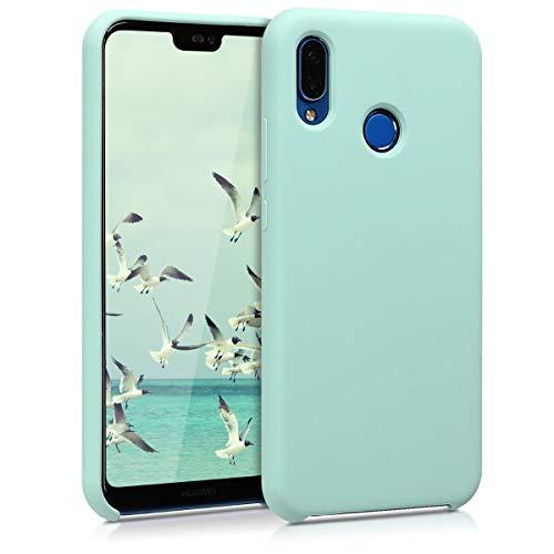 kwmobile Cover Compatibile con Huawei P20 Lite - Cover Custodia in Silicone TPU - Back Case Protezione Cellulare Menta Matt
