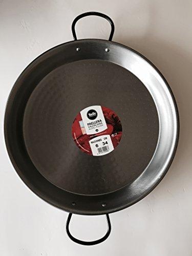 PHA Padella per Paella 34 Centimetri in Acciaio al Carbonio